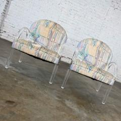 Leon Rosen Modern lucite waterfall side chairs attributed to leon rosen - 2066129