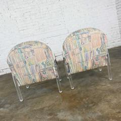 Leon Rosen Modern lucite waterfall side chairs attributed to leon rosen - 2066141