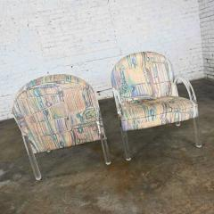 Leon Rosen Modern lucite waterfall side chairs attributed to leon rosen - 2066142