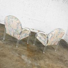 Leon Rosen Modern lucite waterfall side chairs attributed to leon rosen - 2066143