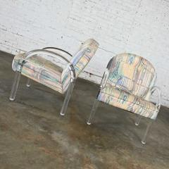 Leon Rosen Modern lucite waterfall side chairs attributed to leon rosen - 2066144
