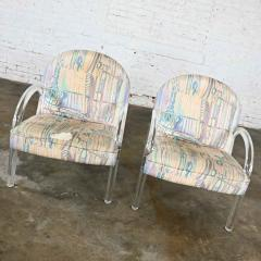 Leon Rosen Modern lucite waterfall side chairs attributed to leon rosen - 2066148