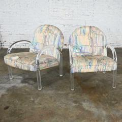 Leon Rosen Modern lucite waterfall side chairs attributed to leon rosen - 2066163