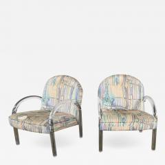 Leon Rosen Modern lucite waterfall side chairs attributed to leon rosen - 2069004