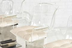 Leon Rosen Pace Collection Lucite Swivel Dining Chairs Model no 171 - 1795016