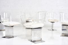 Leon Rosen Pace Collection Lucite Swivel Dining Chairs Model no 171 - 1795029