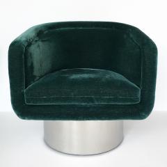 Leon Rosen Pair of Leon Rosen Pedestal Swivel Lounge Chairs - 891014