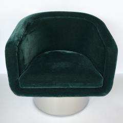 Leon Rosen Pair of Leon Rosen Pedestal Swivel Lounge Chairs - 891015