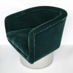 Leon Rosen Pair of Leon Rosen Pedestal Swivel Lounge Chairs - 891016