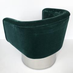 Leon Rosen Pair of Leon Rosen Pedestal Swivel Lounge Chairs - 891017