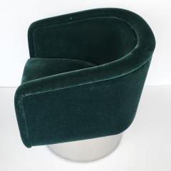 Leon Rosen Pair of Leon Rosen Pedestal Swivel Lounge Chairs - 891018