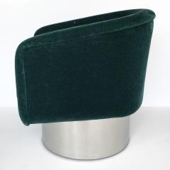 Leon Rosen Pair of Leon Rosen Pedestal Swivel Lounge Chairs - 891019