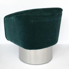 Leon Rosen Pair of Leon Rosen Pedestal Swivel Lounge Chairs - 891020