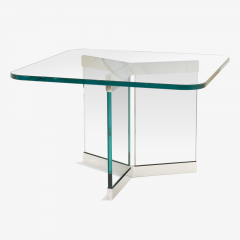 Leon Rosen Tri Base Glass Cocktail Table by Leon Rosen for Pace - 524929