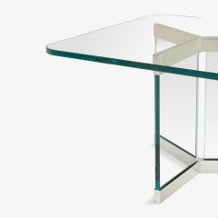 Leon Rosen Tri Base Glass Cocktail Table by Leon Rosen for Pace - 524931