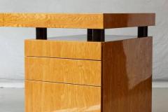 Leon Rosen Triangular Memphis Style Inspired Lacquered Boca Desk by Leon Rosen for Pace - 563109