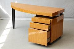Leon Rosen Triangular Memphis Style Inspired Lacquered Boca Desk by Leon Rosen for Pace - 563112