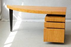 Leon Rosen Triangular Memphis Style Inspired Lacquered Boca Desk by Leon Rosen for Pace - 563113