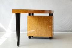 Leon Rosen Triangular Memphis Style Inspired Lacquered Boca Desk by Leon Rosen for Pace - 563115