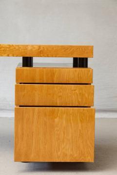 Leon Rosen Triangular Memphis Style Inspired Lacquered Boca Desk by Leon Rosen for Pace - 563116