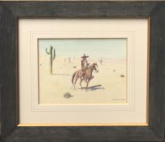 Leonard Howard Reedy Vaquero on Horseback in Desert with Joshua Trees - 2019833