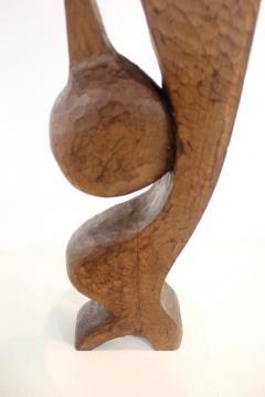 Leonard Setziol Abstract Sphinx Cedar Sculpture by Northwest Sculptor Leonard Setziol - 1773236
