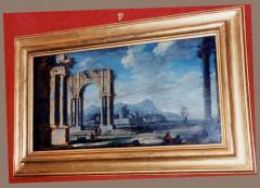 Leonardo Coccorante A Harbor Scene with Roman Ruins - 281156