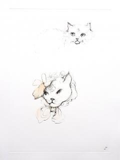 Leonor Fini Leonor Fini Cats Original Etching 1985 - 1075292