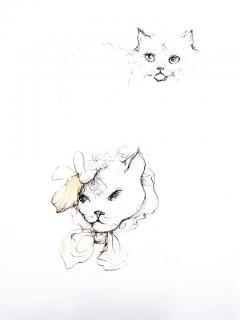 Leonor Fini Leonor Fini Cats Original Etching 1985 - 1075293