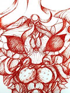 Leonor Fini Leonor Fini Red Cat Imagination Original Etching 1985 - 1075327