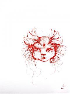 Leonor Fini Leonor Fini Red Cats Original Etching 1985 - 1075301