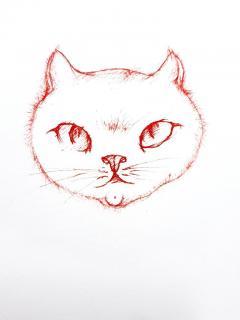 Leonor Fini Leonor Fini Red Cats Original Etching 1985 - 1075303