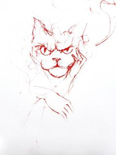 Leonor Fini Leonor Fini Red Cats Original Etching 1985 - 1075304