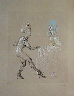 Leonor Fini Leonor Fini Women Original Signed and Numbered Engraving 1960s - 1075925