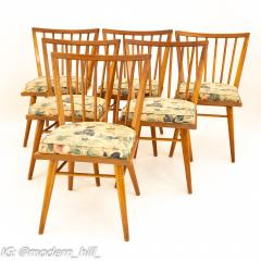 Leslie Diamond for Conant Ball Mid Century Dining Side Chairs Set of 6 - 1870023