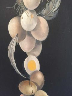 Lester Gaba Hand Painted on Wood Chicken with Eggs Lilly Dache Collection - 1781498