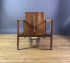 Lewis Butler Lewis Butler 645 Walnut Birch Lounge Chair Knoll USA - 1701839