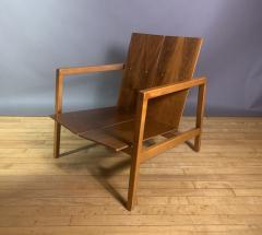 Lewis Butler Lewis Butler 645 Walnut Birch Lounge Chair Knoll USA - 1701841