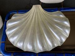 Liane Rougier Large Shell Lamp Pearl Resin Brass by Maison Rougier France 1970s - 1191600