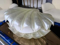 Liane Rougier Large Shell Lamp Pearl Resin Brass by Maison Rougier France 1970s - 1191601