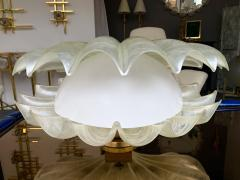 Liane Rougier Large Shell Lamp Pearl Resin Brass by Maison Rougier France 1970s - 1191607