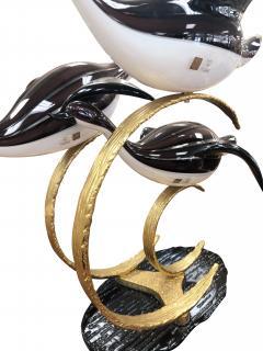 Licio Zanetti Licio Zanetti Three Flying Geese Vintage Murano Glass Sculpture - 1214841