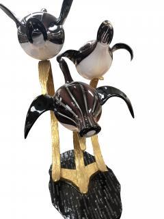 Licio Zanetti Licio Zanetti Three Flying Geese Vintage Murano Glass Sculpture - 1214842