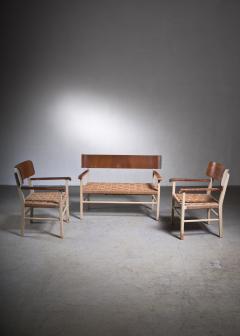 Light and transparent Scandinavian Modern sofa set - 2006224