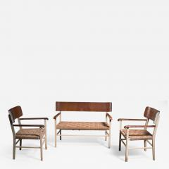 Light and transparent Scandinavian Modern sofa set - 2009946