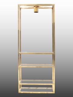 Lighting display cabinet in brass France 1970 - 1265182