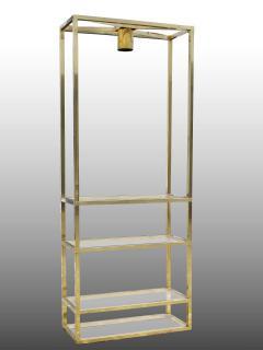 Lighting display cabinet in brass France 1970 - 1265184