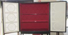 Limited Edition Artisan Crafted Origami Glass and Iron Bar Cabinet - 316553