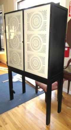 Limited Edition Artisan Crafted Origami Glass and Iron Bar Cabinet - 361649