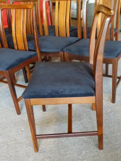 Linde Nilsson 10 Swedish Brazilian Rosewood Dining Chairs By Linde Nilsson    125139